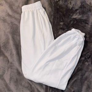 Simple white sweatpants
